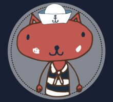 Nautical Adventures: Sailor Cat One Piece - Long Sleeve