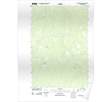 Maine USGS Historical Map North Brook Ridge 20110909 TM Poster