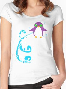 Cute Simple Penguin Women's Fitted Scoop T-Shirt