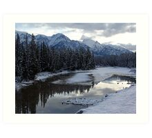 Reflections of Winter, Rocky Mountains Art Print