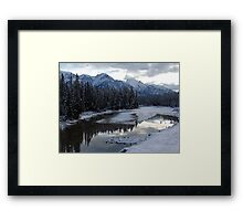 Reflections of Winter, Rocky Mountains Framed Print