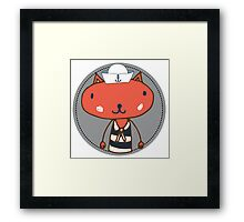 Nautical Adventures: Sailor Cat Framed Print