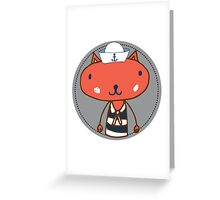 Nautical Adventures: Sailor Cat Greeting Card