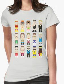 8-Bit Wrestling! Womens Fitted T-Shirt