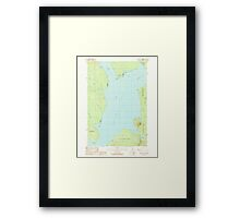 Maine USGS Historical Map North East Carry 102825 1989 24000 Framed Print
