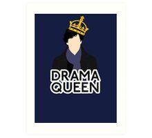 Sherlock - Drama Queen Art Print