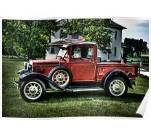 """Proud To Be An American""  (Model A Ford) Poster"