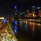 Melbourne During White Night Festival 2015 by Ronald Rockman