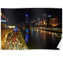 Melbourne During White Night Festival 2015 Poster