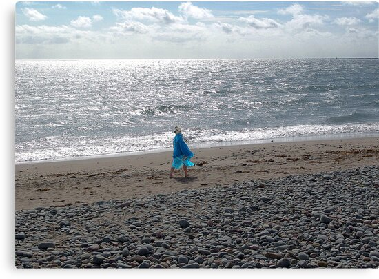 Windblown Lady by George Cousins