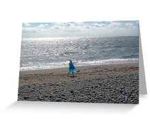 Windblown Lady Greeting Card