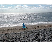 Windblown Lady Photographic Print