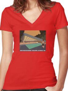 Goldstein House John Lautner Architecture Tshirt Women's Fitted V-Neck T-Shirt