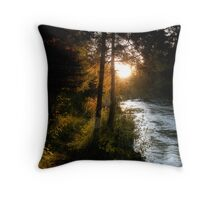 Sun Setting on the Jordan River Valley Throw Pillow