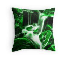 Flowing - Green Throw Pillow