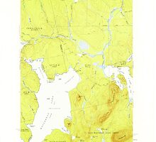 Maine USGS Historical Map North East Carry 460678 1954 62500 by wetdryvac