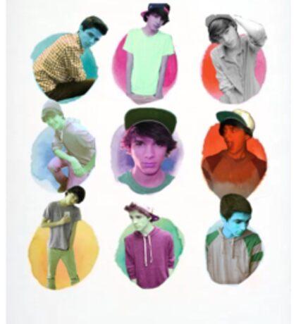 Brent Rivera Colored Dots Sticker