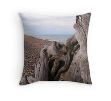 Windy Day on Whitefish Point III Throw Pillow