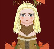 Kokeshi Daenerys Targaryen, Khaleesi by Pendientera