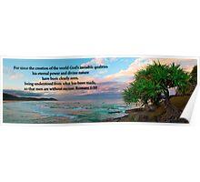 Romans 1:20 Poster