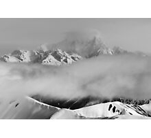 Peaks and Clouds Photographic Print