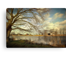 On The River Side Canvas Print
