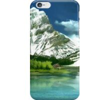 Cold mountains matte painting iPhone Case/Skin