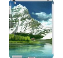 Cold mountains matte painting iPad Case/Skin