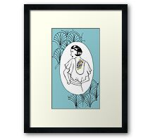 Art Nouveau Tattooed Traveler Framed Print