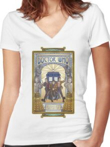 All of Time and Space Women's Fitted V-Neck T-Shirt