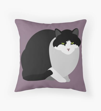 Bill, Stray Cat Throw Pillow