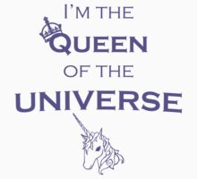 """I'm the QUEEN of the UNIVERSE"" - Funny Clothes and Cases One Piece - Short Sleeve"