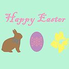 Bunny, Egg and Daffodil: Easter Line by CreativeEm