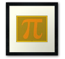 Pi to 100000 - 100k - digits on caution yellow - Symbol Framed Print