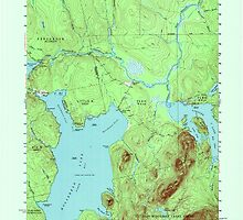 Maine USGS Historical Map North East Carry 808130 1954 62500 by wetdryvac