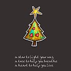Christmas Card - Chocolate Wish Tree by © Karin (Cassidy) Taylor