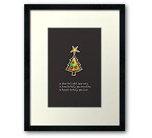 Christmas Card - Chocolate Wish Tree Framed Print