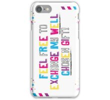 Sarcasm is coming to town! iPhone Case/Skin