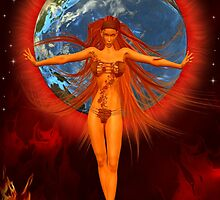 Earth Goddess of Fire by LoneAngel