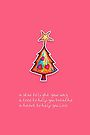 Christmas Card - Lolly Pink Wish Tree by Karin  Taylor