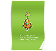 Christmas Card - Wild Lime Wish Tree Poster