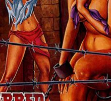 BARBED WIRE DOLLS B MOVIE Sticker