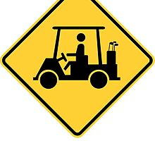 Golf Cart Crossing Sign by ukedward