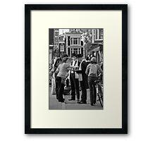 Street festival in Amsterdam Framed Print