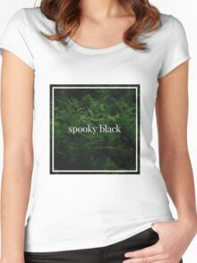 Spooky Black Women's Fitted Scoop T-Shirt