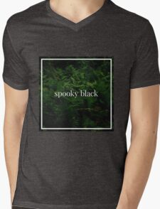 Spooky Black Mens V-Neck T-Shirt