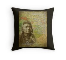 Chief Joseph of the Nez Perce Throw Pillow