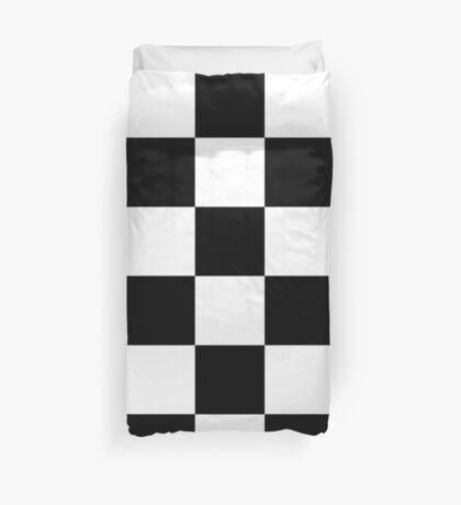 Black And White Checks Duvet Cover