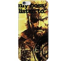 MGS The only boss iPhone Case/Skin