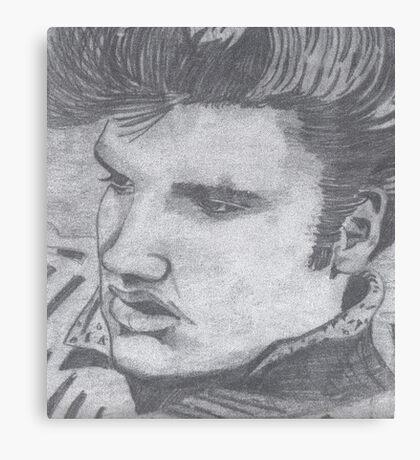 Black and White Elvis  Canvas Print